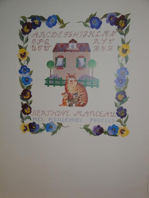 Affiche du peintre animalier Berthine Marceau