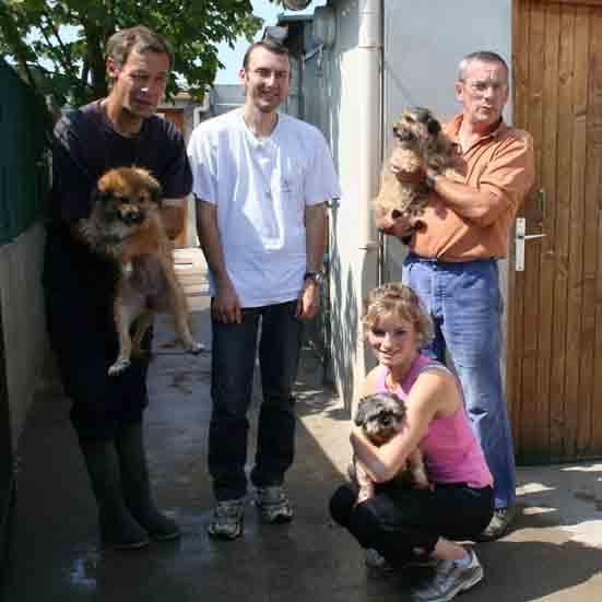 Claude, Yann, Jean et Cécile